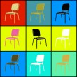 Pop art chairs — Foto de stock #13757113