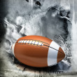 American football over grunge background — Stock Photo