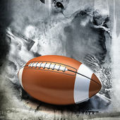 American football over grunge background — Zdjęcie stockowe