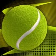 Tennis ball on abstract modern background - Stock Photo