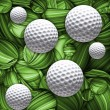 Designed golf background - Stock Photo