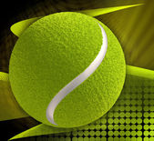 Tennis ball on abstract modern background — Stock Photo