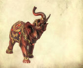 Indian elephant figurine on grunge background — Stockfoto