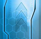 Designed blue technology background — Stock Photo