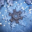 Abstract Christmas background with snowflakes — Stock Photo #16261191
