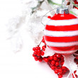 Christmas decoration with berries holly — Stock Photo