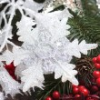 Christmas background with snowflakes — Stockfoto