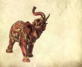 Estatueta de elefante indiano em fundo grunge — Fotografia Stock