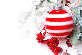 莓果冬青圣诞装饰 — 图库照片