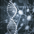 DNA background - Stock Photo