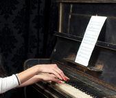 Pianist musician piano music playing — Stock Photo