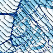 Abstrato azul e branco — Fotografia Stock