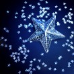 Silver stars background — Stock Photo
