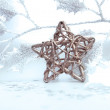 Foto de Stock  : Bright christmas composition with star