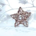 helle Weihnachten Komposition mit Stern — Stockfoto