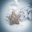 Bright christmas composition with star — Stockfoto