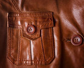 Leather jacket detail closeup — Stock Photo
