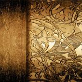 グランジ金属板飾り — ストック写真