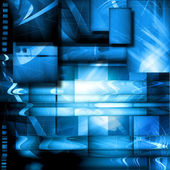 Abstract background with block in blue tones — Stock Photo