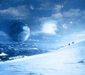 冬のファンタジー風景 — ストック写真