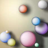 Abstract background with balls — Stock Photo