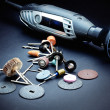 Stock Photo: Rotary tools with accessory