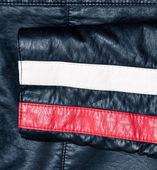Sleeve of a leather jacket background — Stock Photo