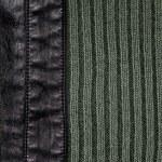 sfondo di cuoio e maglia di lana — Foto Stock #23461370