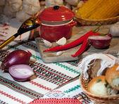 Traditional Ukrainian snack — Stock Photo
