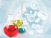 Labor flaschen medizin hintergrund — Stockfoto