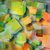 Colored abstract cubes — Stock Photo