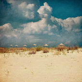 Beautiful beaches - picture in retro style — Stock Photo
