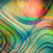 Abstract vintage background with colorful lines — Stock Photo