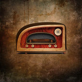 Retro styled radio — 图库照片