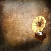 Retro gramophone — Stock Photo