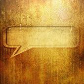 Speech bubble on grunge background — Stock Photo