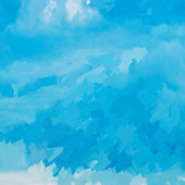 Seamless blue sky painted abstraction — Stock Photo