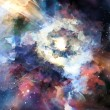 Abstract colorful background. Great galaxy — Stock Photo