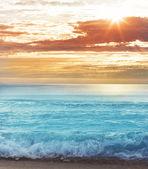 Nice sunset on sea — Stock fotografie