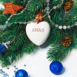 Christmas heart — Stockfoto