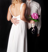 Young elegant couple. wedding still life. — Stock Photo