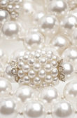 Pearl necklace fragment — Stock Photo