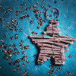 Christmas background with star — Stock Photo