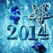 Stock Photo: New year 2014 design template