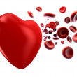 Flow of blood and heart — Stock Photo #4516143