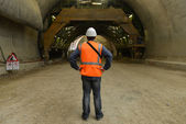 Working in the tunnel — Stock Photo