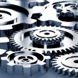 Gear machinery and titanium concept — Stock Photo #22691449