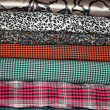 Stacks of colored cloth — Stock Photo #26712779