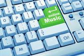 Musique en ligne du clavier de l'ordinateur — Photo