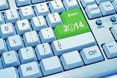 Start 2014 of computer keyboard — Stock Photo